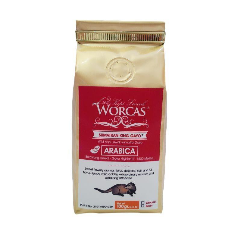 Worcas Wild Kopi Luwak Gayo 100 Gram Biji
