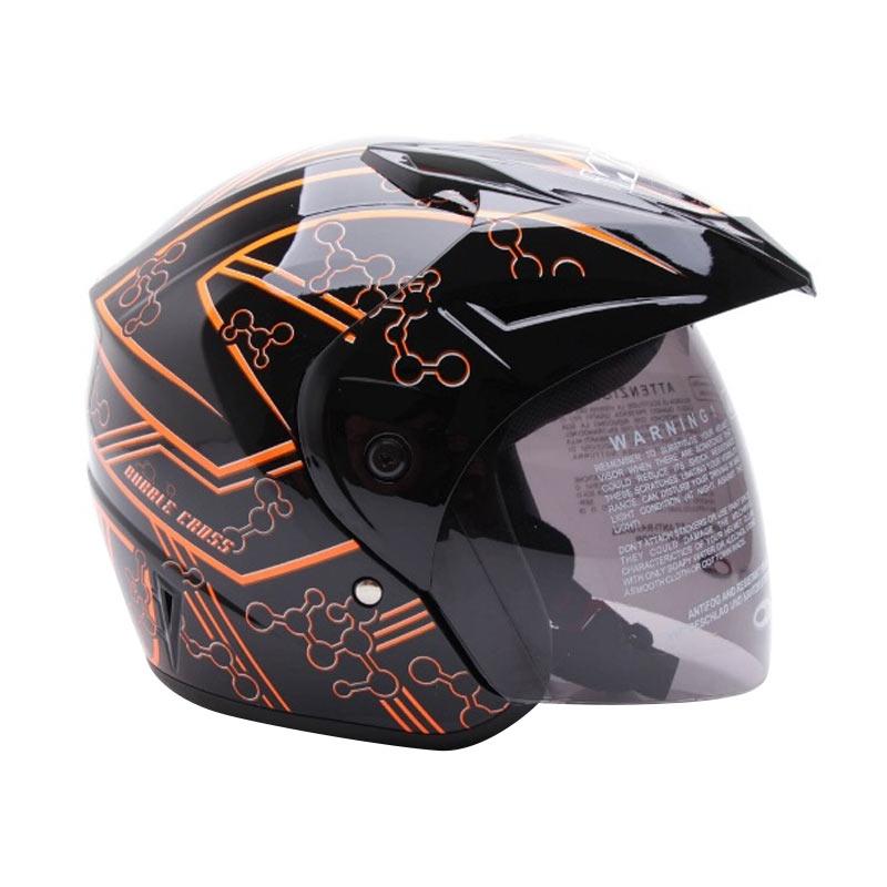 Jual WTO Helmet Z1R Pet Bubble Helm Half Face Hitam Orange