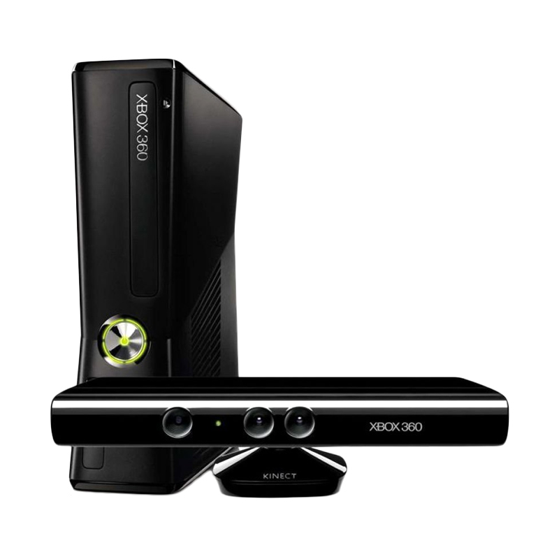 Microsoft Xbox 360 Slim Game Console [4GB] + Kinect (RGH)