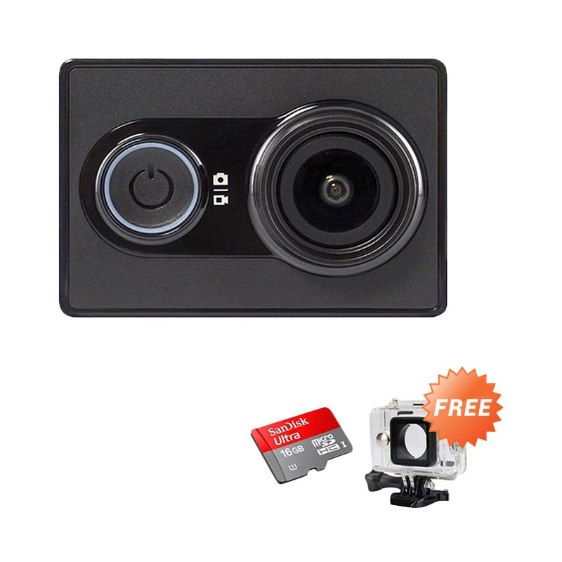 harga Xiaomi Basic International Action Camera + Free Housing + Sandisk Ultra Kartu Memori 16 GB Blibli.com