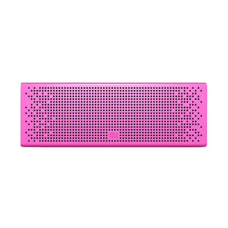 Xiaomi Metal Box Hi-Fi Premium Subwoofer Stereo Cube Speaker Bluetooth - Pink