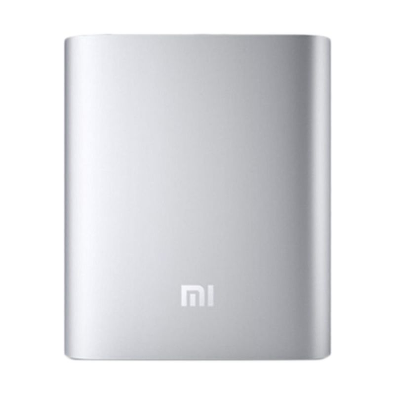 Power Bank Xiaomi 10400mAh Silver + free 1pcs headset Xiaomi super bass & 1pcs lampu led power bank