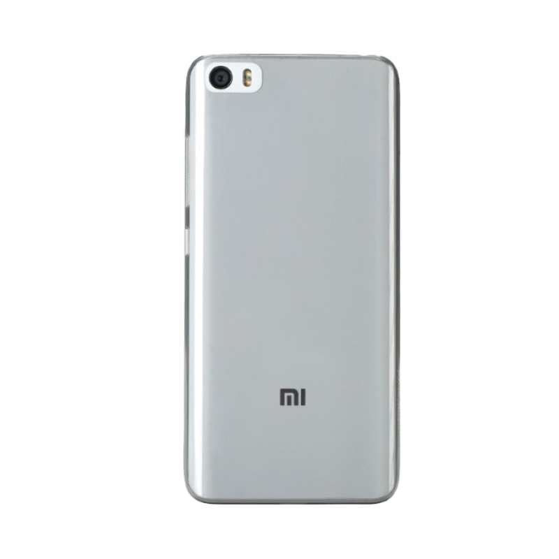 Xiaomi Silikon Clear Casing for Mi5 - Grey
