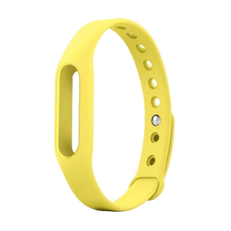 harga Xiaomi Strap Wrist Band untuk Mi Band or Mi Band 1s - Kuning Blibli.com