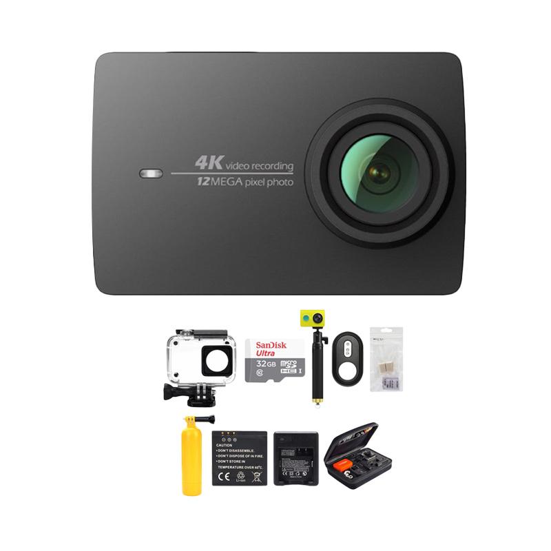 Xiaomi Yi 4K Mark II Action Cam - Hitam [International Version/ Combo Paket Complete] Extra diskon 7% setiap hari Extra diskon 5% setiap hari Citibank – lebih hemat 10%
