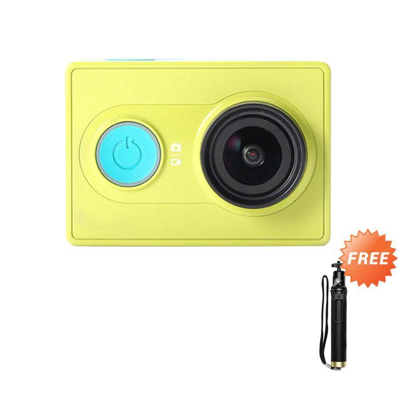 Xiaomi Yi Hijau Action Camera [16 MP] + Monopod