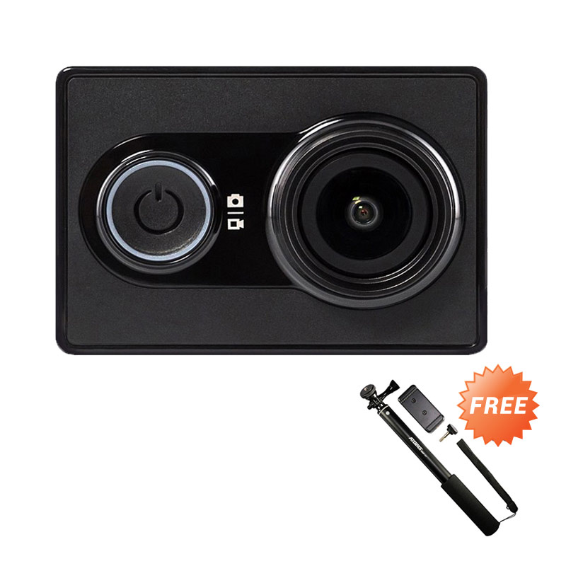 Xiaomi Yi International Edition Action Camera + Free Tongsis Monopod Extra diskon 7% setiap hari