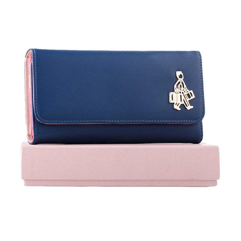 Yadas Korea Wallet 6802-6 Blue Dompet Wanita Blue