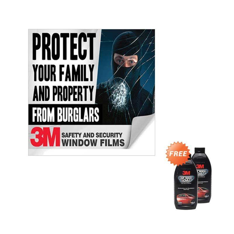 3M Safety & Security 4 Mil SAS 35 Kaca Depan Paket Pemasangan Kaca Film [Jabodetabek] + 3M Car Wash Shampoo [2 Pcs]