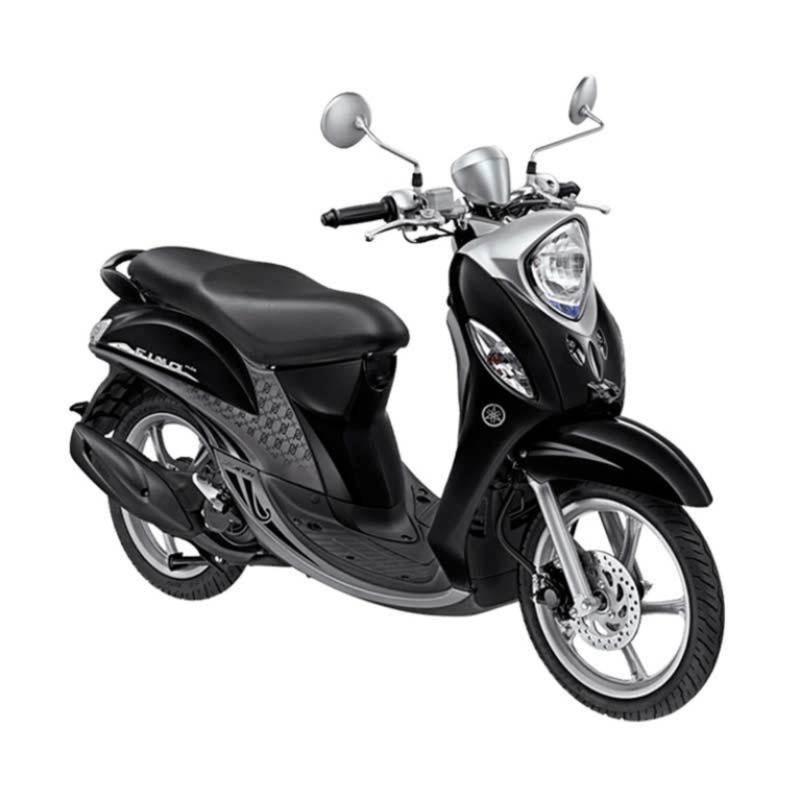 Yamaha Fino Premium FI Black Silver Sepeda Motor [OTR Jawa Tengah]