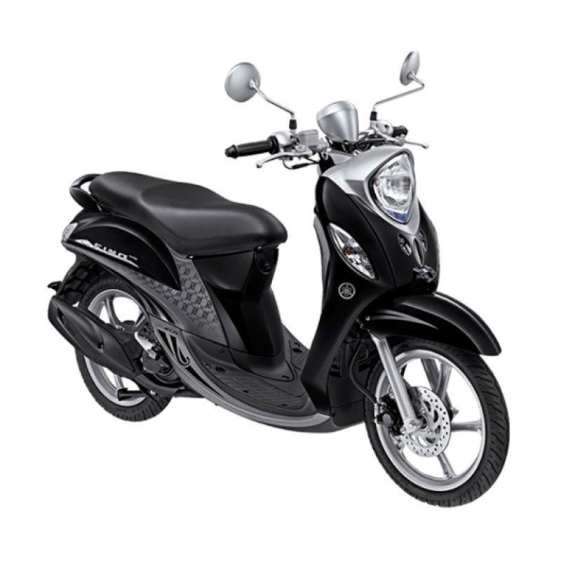 Yamaha Fino Premium FI Black Silver Sepeda Motor [OTR Yogyakarta]