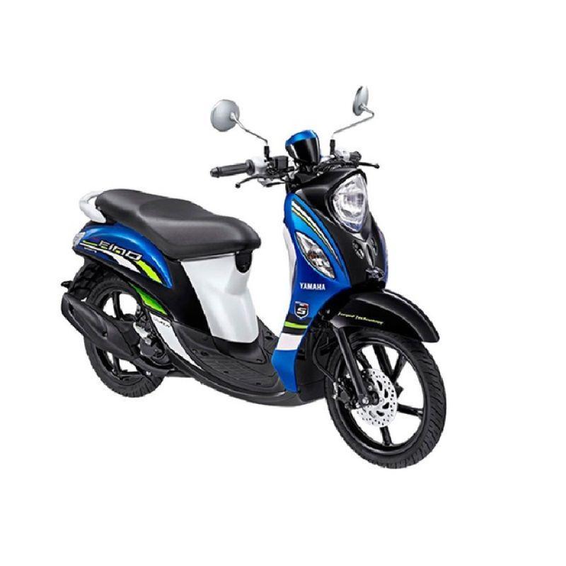 Yamaha Fino Sporty FI Sporty Blue Sepeda Motor + Voucher Shell [Rp 140.000]