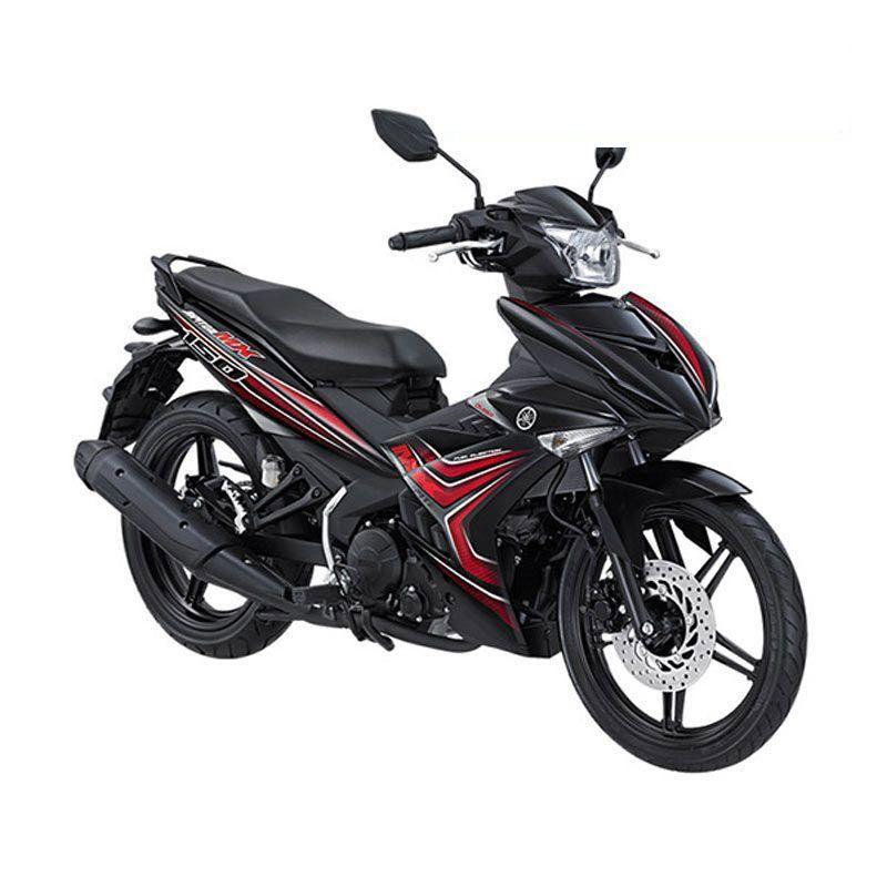 Yamaha Jupiter MX King 150 Black Red Sepeda Motor + Voucher Shell [Rp 200.000]