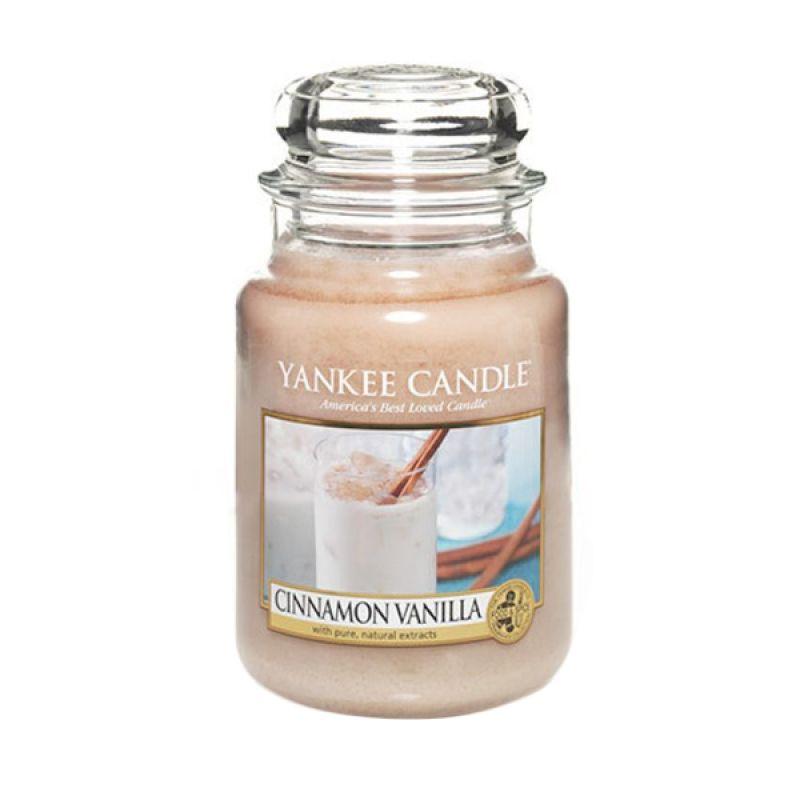 Yankee Candle Jar Large Cinnamon Vanilla Lilin Aromaterapi