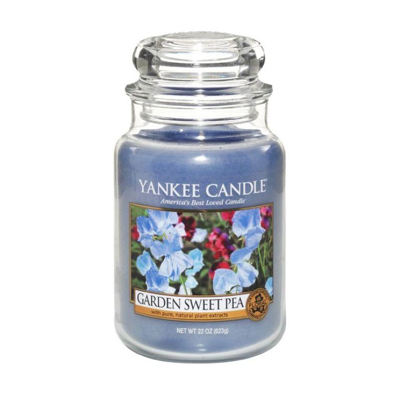 Yankee Candle Jar Large Garden Sweet Pea Lilin Aromaterapi