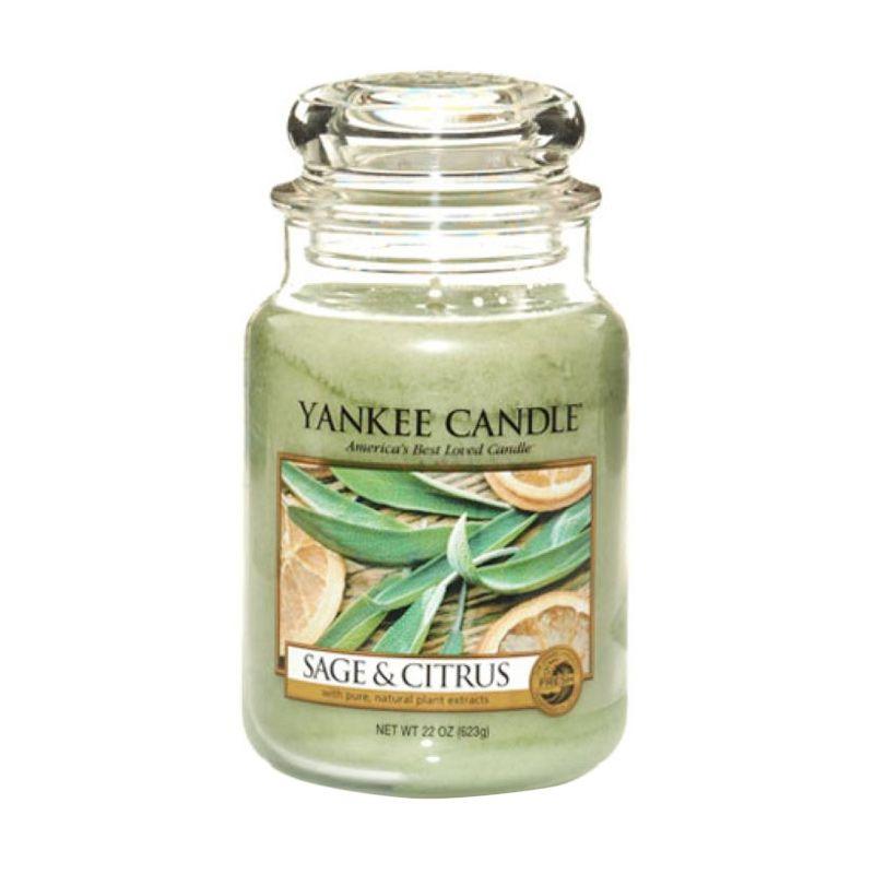 Yankee Candle Jar Large Sage and Citrus Lilin Aromaterapi