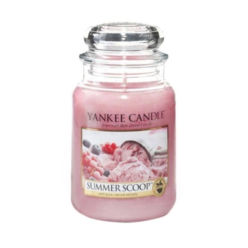 Yankee Candle Jar Large Summer Scoop Lilin Aromaterapi