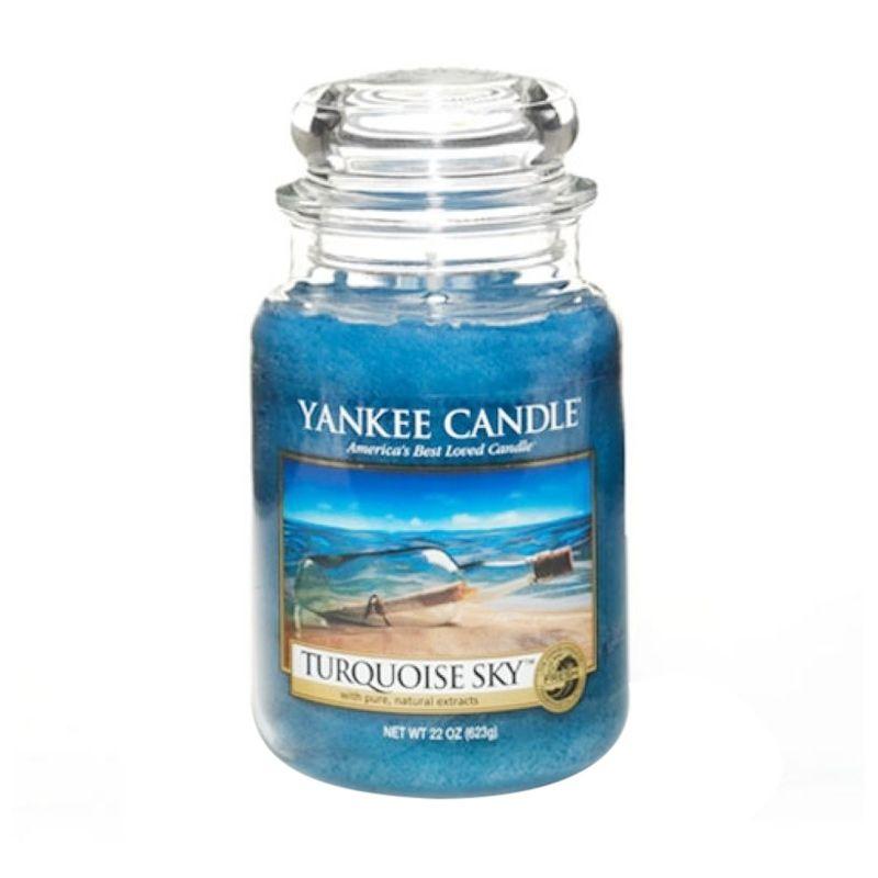 Yankee Candle Jar Large Turquoise Sky Lilin Aromaterapi
