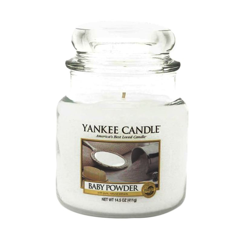 Yankee Candle Jar Medium Baby Powder Lilin Aromaterapi