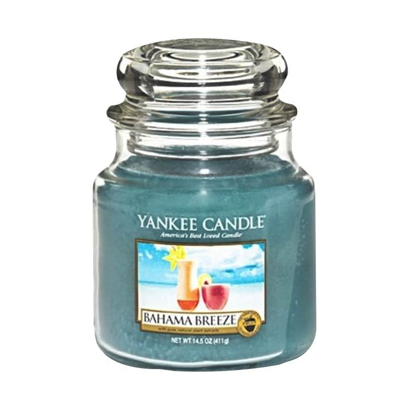 Yankee Candle Jar Medium Bahama Breeze Lilin Aromaterapi