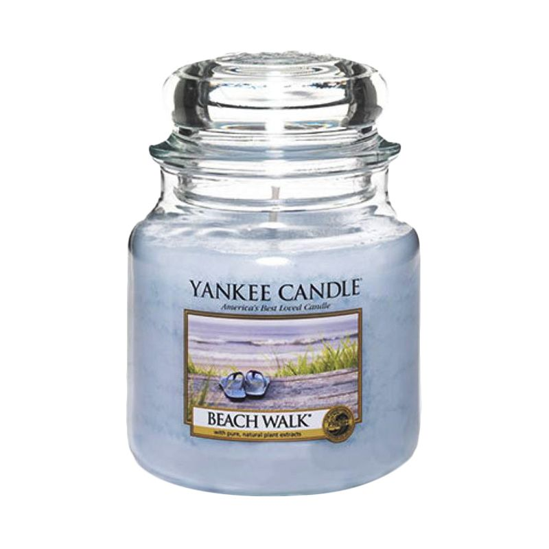 Yankee Candle Jar Medium Beach Walk Lilin Aromaterapi