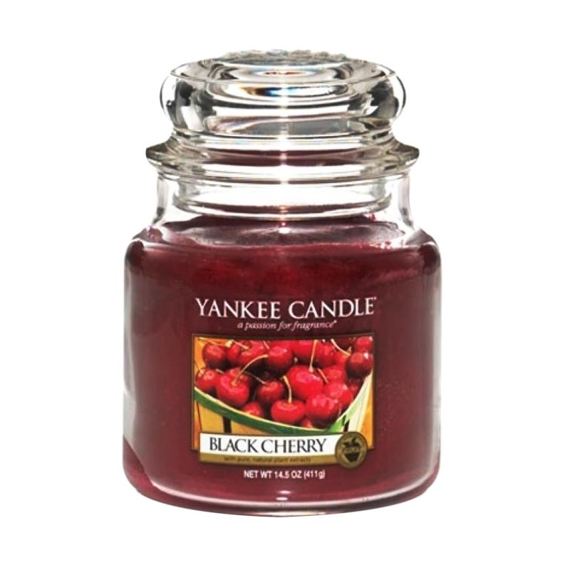 Yankee Candle Jar Medium Black Cherry Lilin Aromaterapi