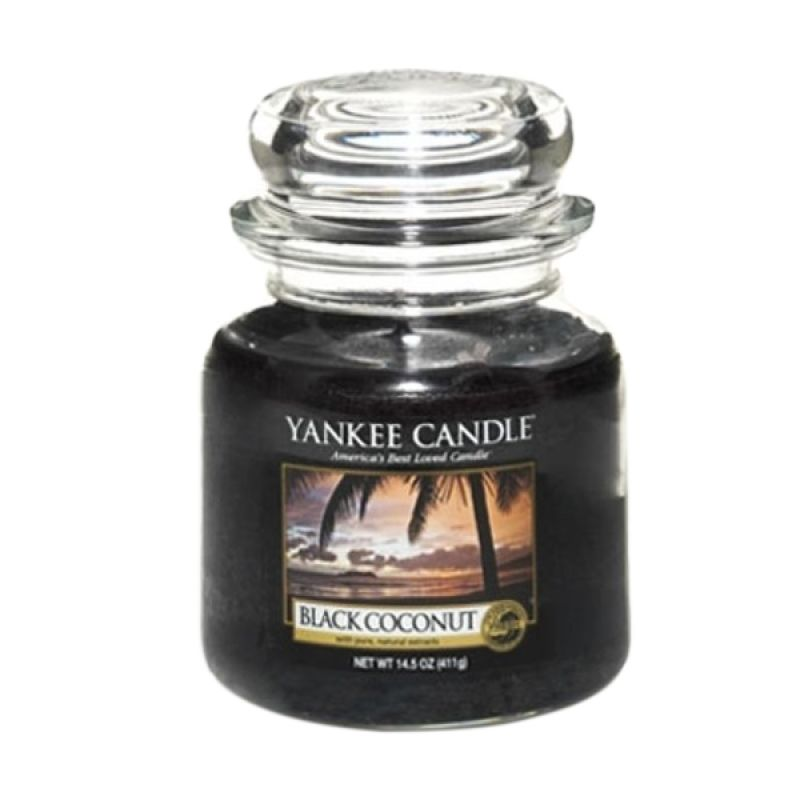 Yankee Candle Jar Medium Black Coconut Lilin Aromaterapi