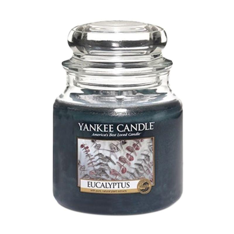 Yankee Candle Jar Medium Eucalyptus Lilin Aromaterapi