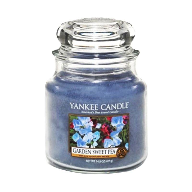 Yankee Candle Jar Medium Garden Sweet Pea Lilin Aromaterapi