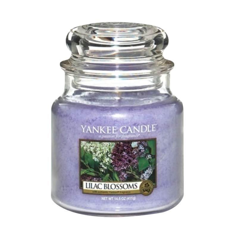 Yankee Candle Jar Medium Lilac Blossom Lilin Aromaterapi