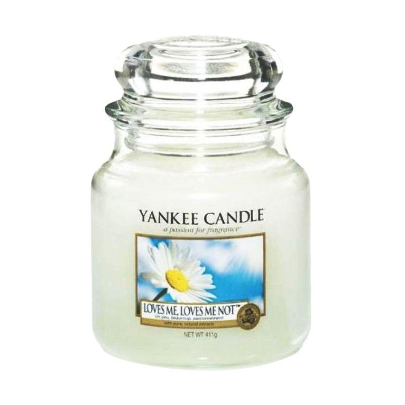 Yankee Candle Jar Medium Loves Me Lilin Aromaterapi
