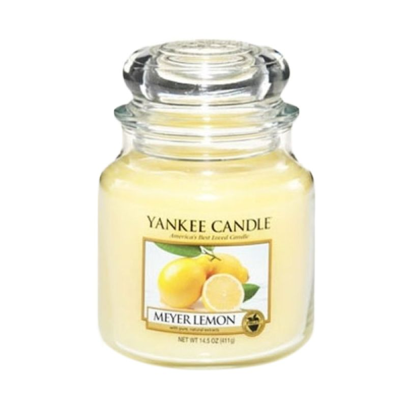 Yankee Candle Jar Medium Meyer Lemon Lilin Aromaterapi