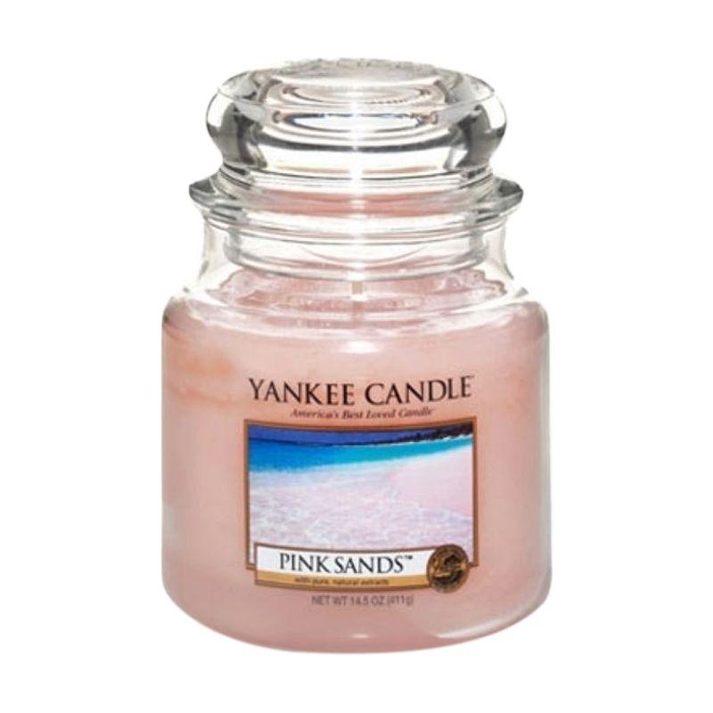 Yankee Candle Jar Medium Pink Sand Lilin Aromaterapi