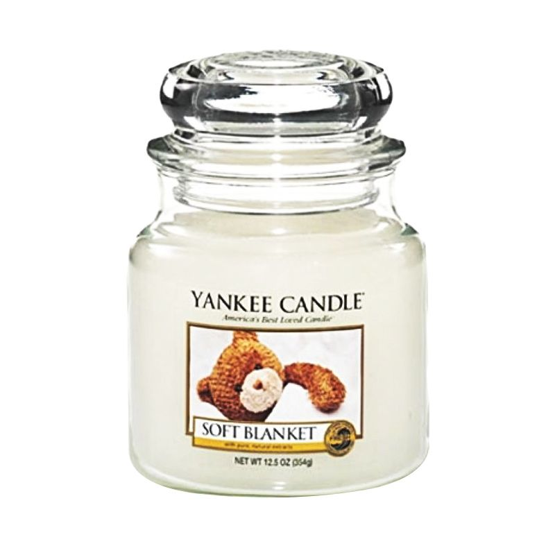 Yankee Candle Jar Medium Soft Blanket Lilin Aromaterapi