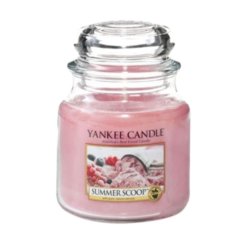 Yankee Candle Jar Medium Summer Scoop Lilin Aromaterapi