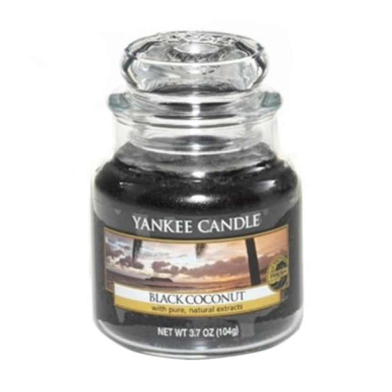 Yankee Candle Jar Small Black Coconut Lilin Aromaterapi