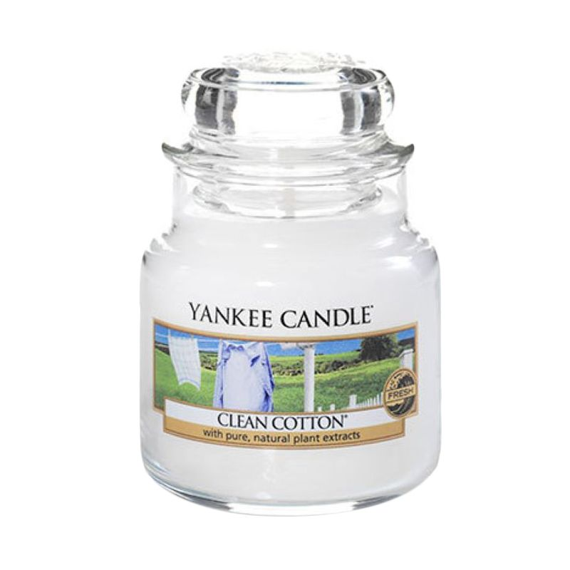Yankee Candle Jar Small Clean Cotton Lilin Aromaterapi