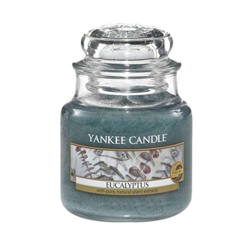 Yankee Candle Jar Small Eucalyptus Lilin Aromaterapi