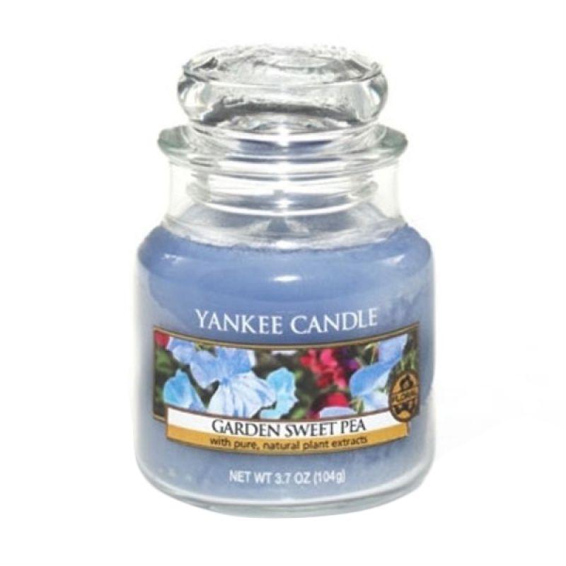 Yankee Candle Jar Small Garden Sweet Pea Lilin Aromaterapi