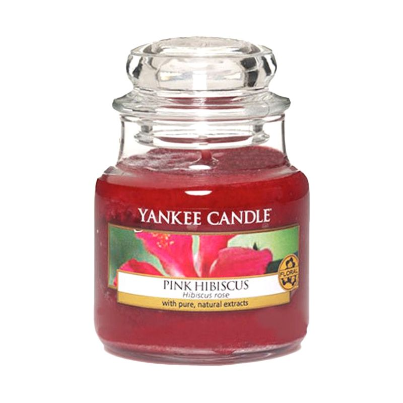 Yankee Candle Jar Small Pink Hibiscus Lilin Aromaterapi