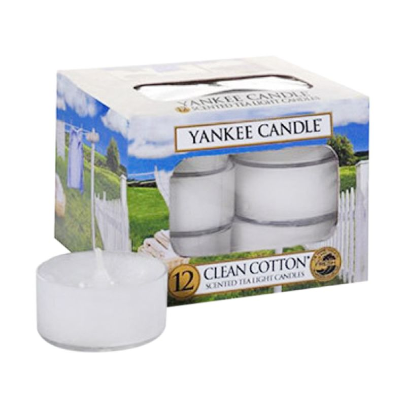 Yankee Candle Tealight Clean Cotton Lilin Aromaterapi