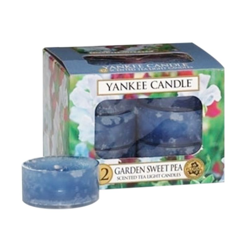 Yankee Candle Tealight Garden Sweet Pea Lilin Aromaterapi