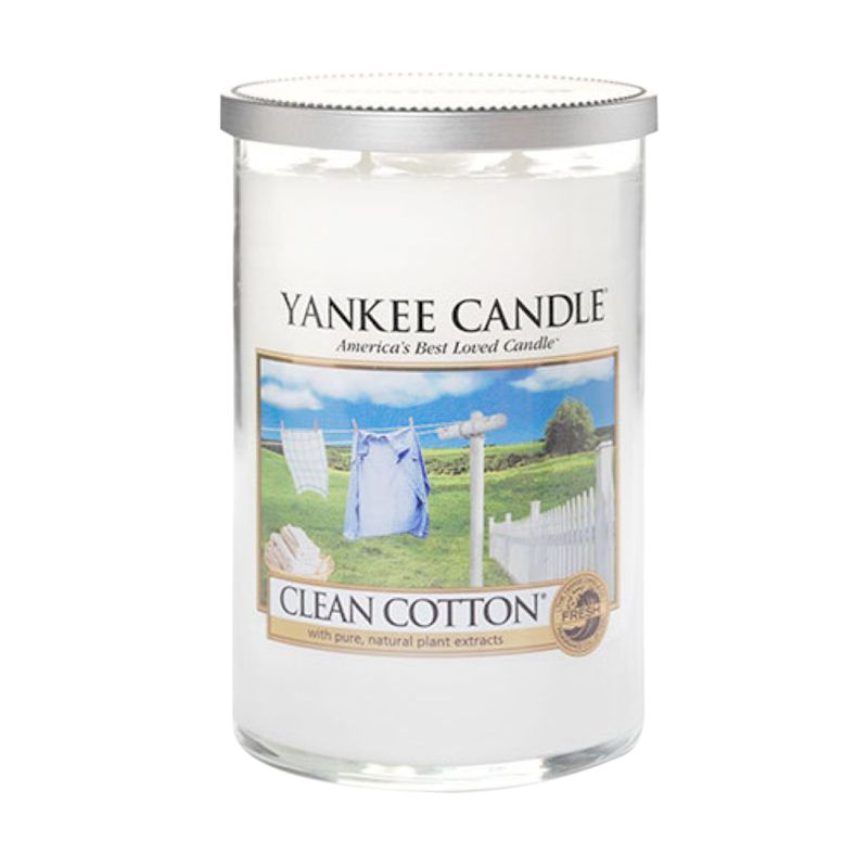 Yankee Candle Tumbler Clean Cotton Lilin Aromaterapi [Large]
