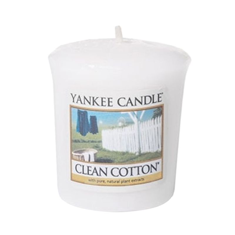 Yankee Candle Votive Clean Cotton Lilin Aromaterapi