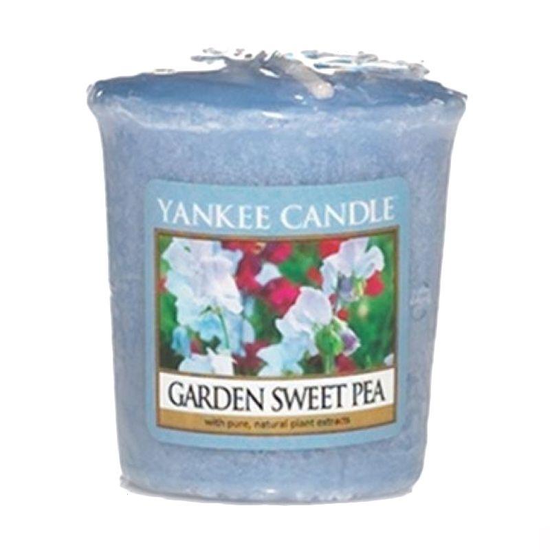 Yankee Candle Votive Garden Sweet Pea Lilin Aromaterapi