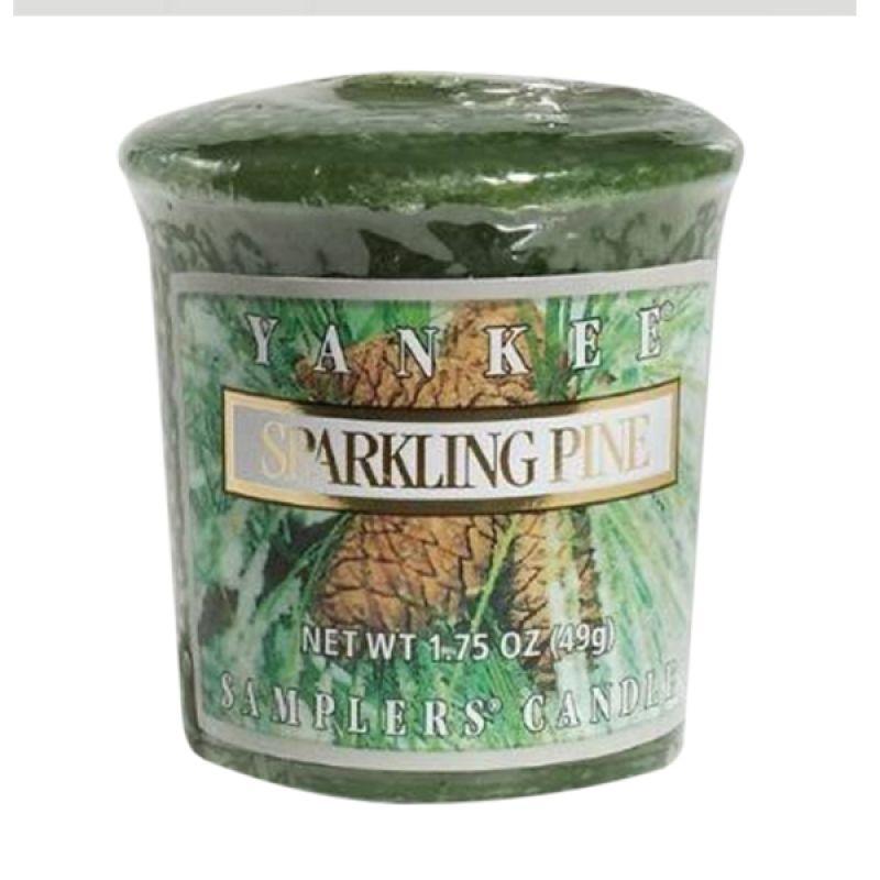 Yankee Candle Votive Sparkling Pine Lilin Aromaterapi