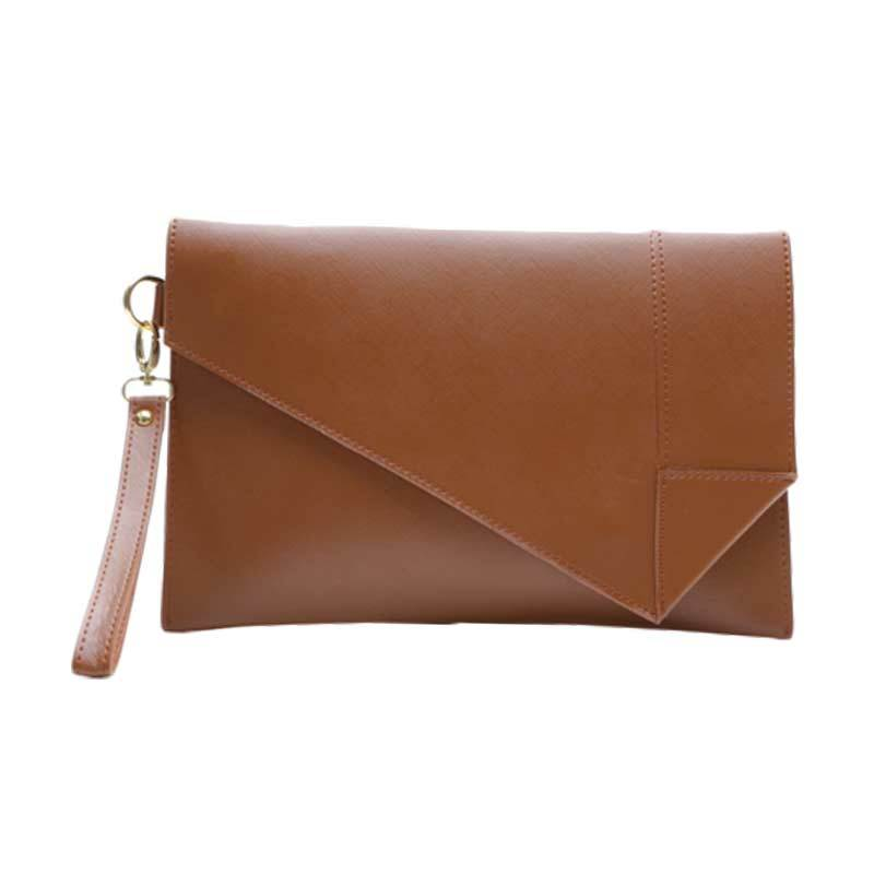 Yasa Bag Origami Asimetric Coklat Clutch Bag