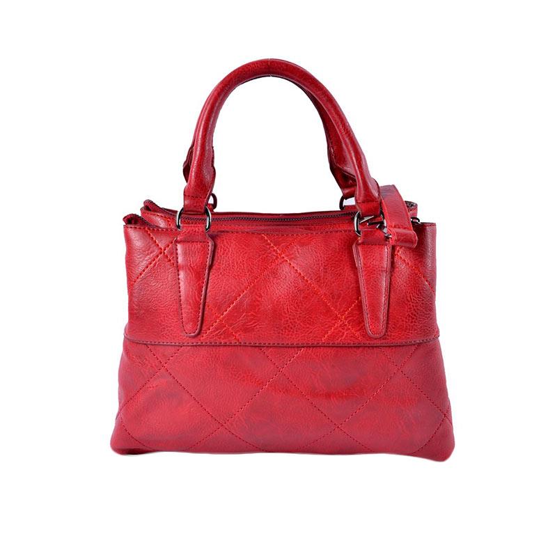 Yubenobe Ebony Tas Tangan Wanita Merah .