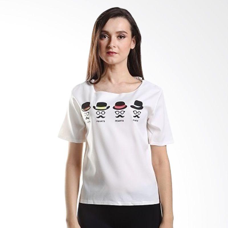Yuka Fashion 2015366 Putih Atasan Wanita