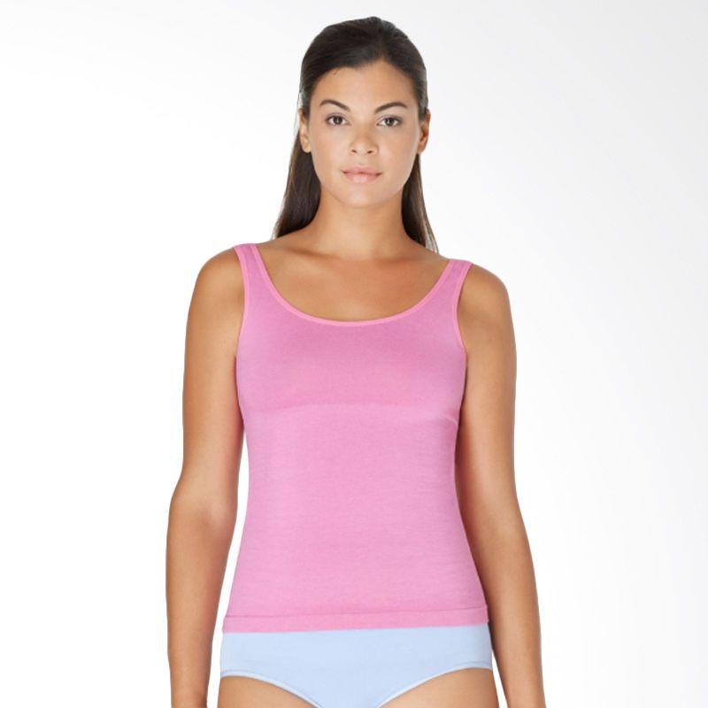 Yummie Tummie Slimming 2 Way Tanktop Korset Stephanie Pink Pakaian Pelangsing